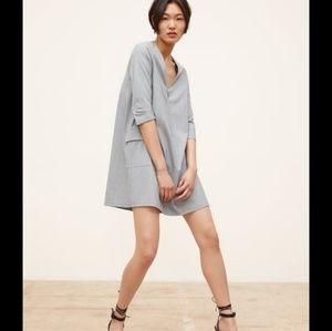 NWT Zara Plaid Dress Gray Check Zipper 2157/043 M
